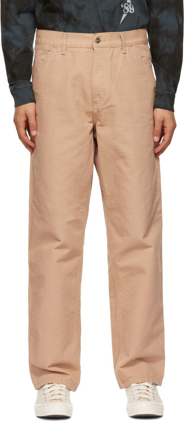 Beige Single Knee Trousers