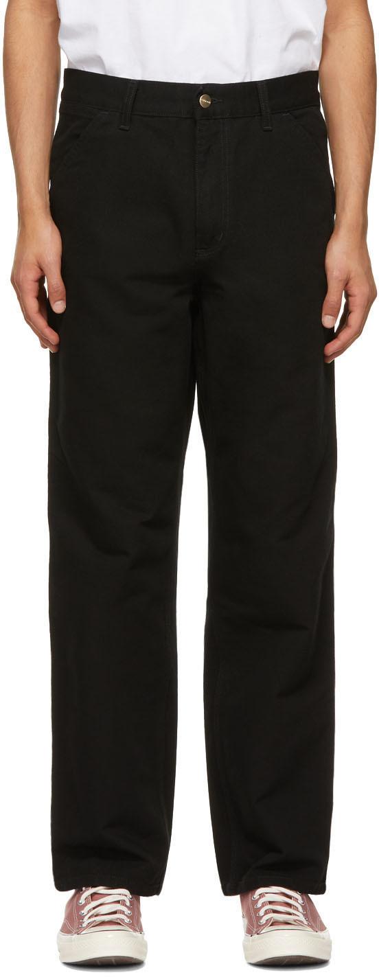 Black Single Knee Trousers