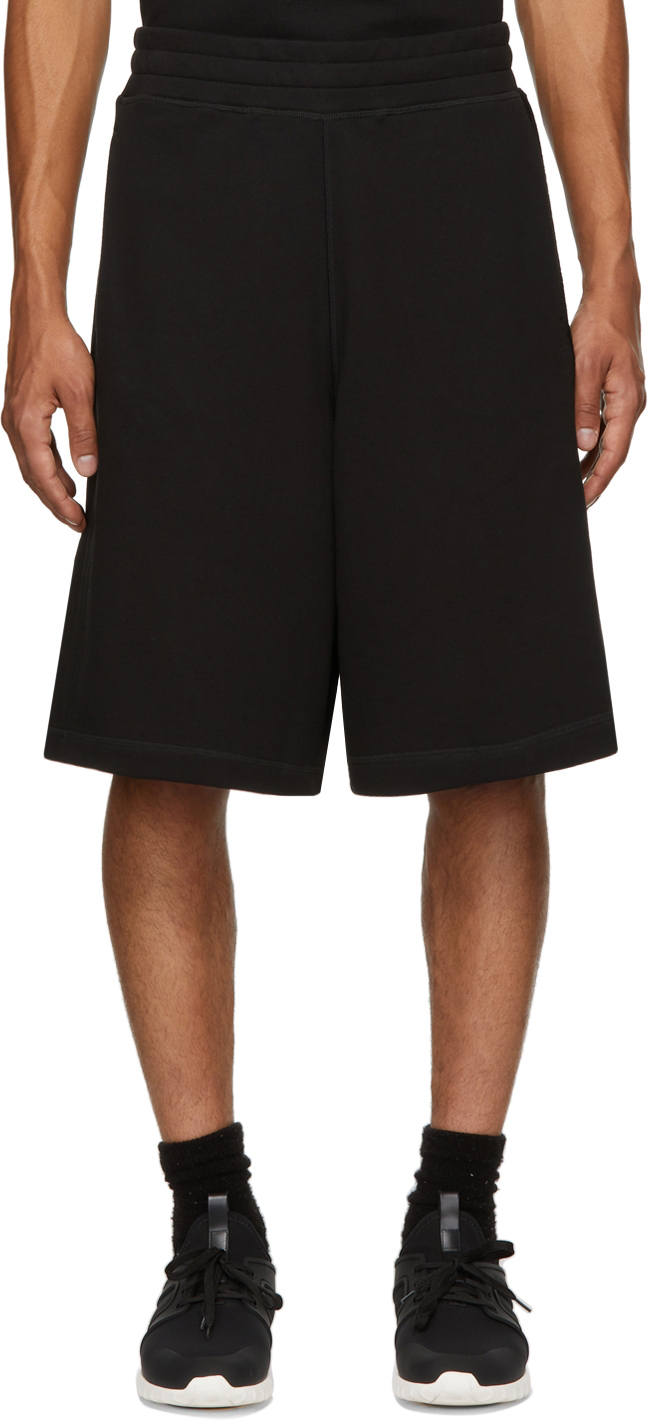 Black French Terry Shorts