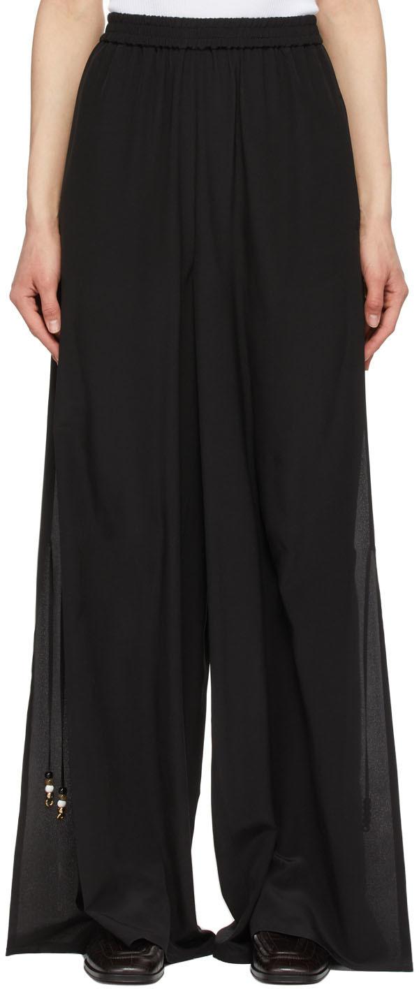 Black Silk Boheme Trousers