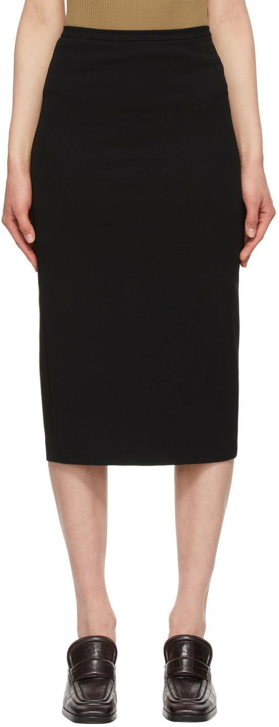 Black Taglio Skirt