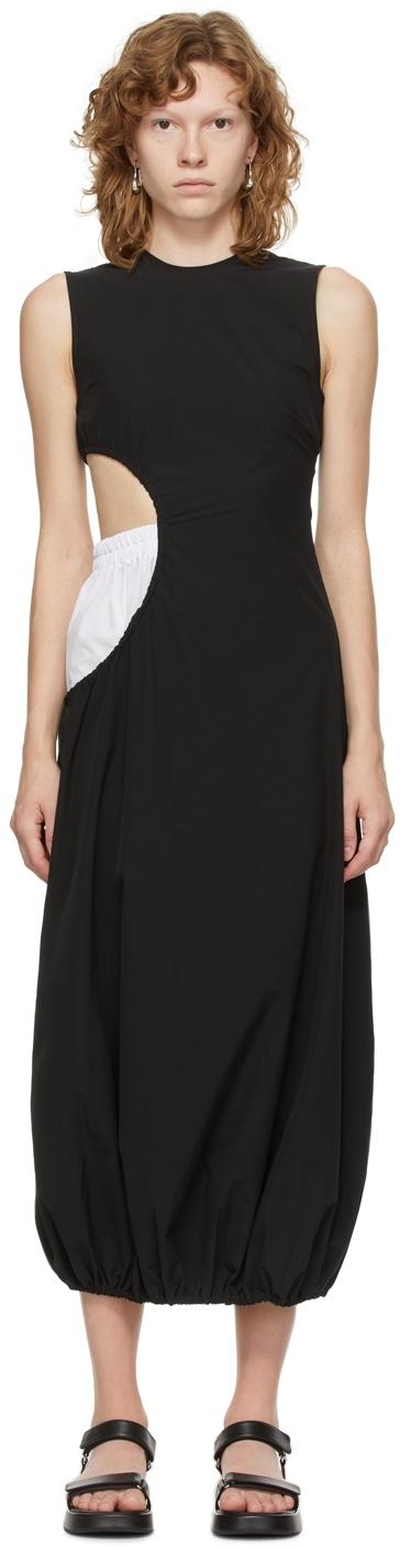 Black Poplin Boxer Dress