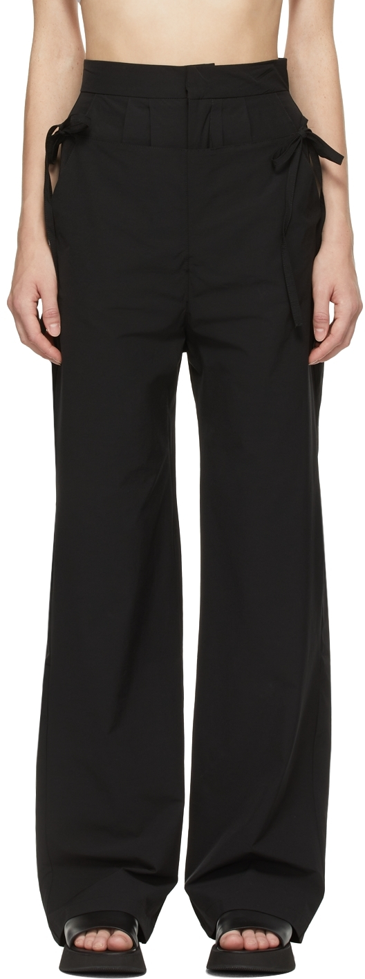 Black 'The Flap Over' Trousers