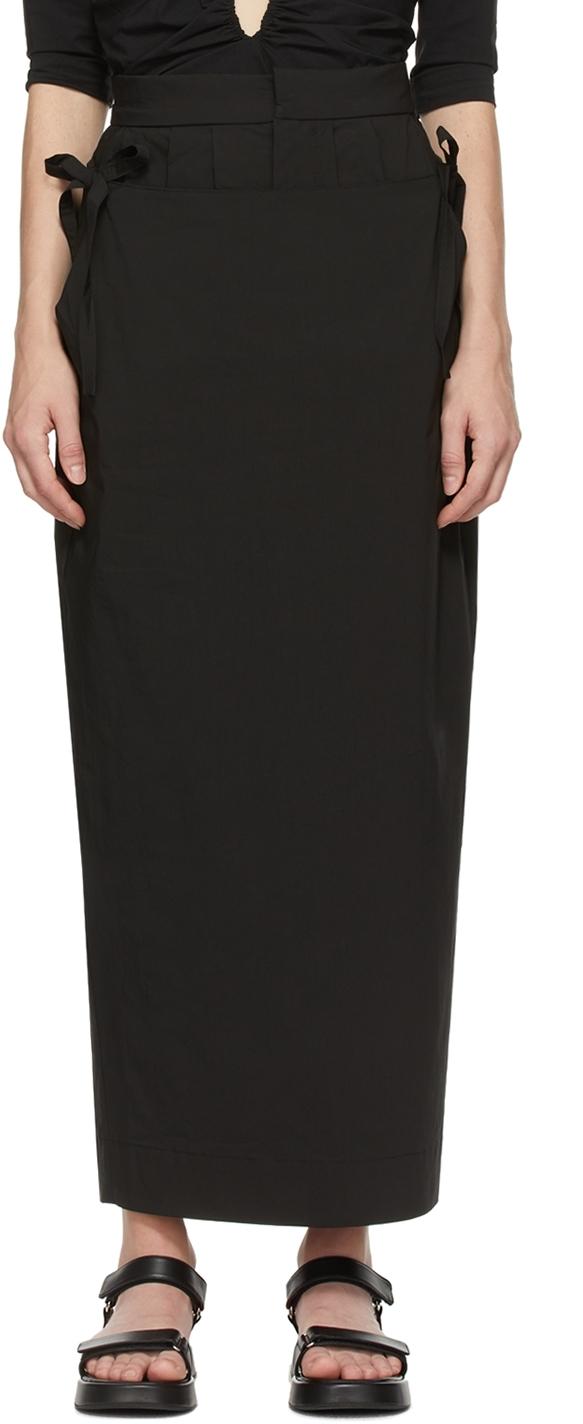 Black 'The Flap Over' Skirt
