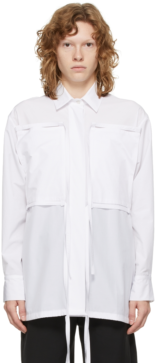 White Flap Over Shirt