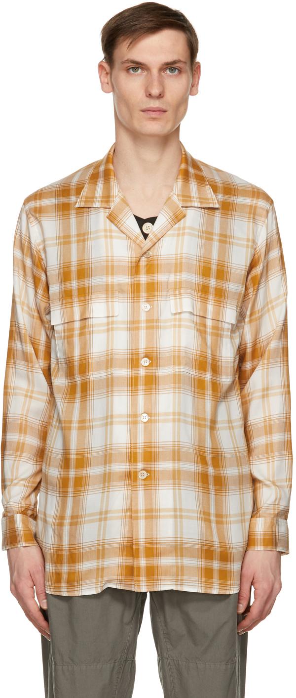 Orange & Off-White Inner Vest Shirt