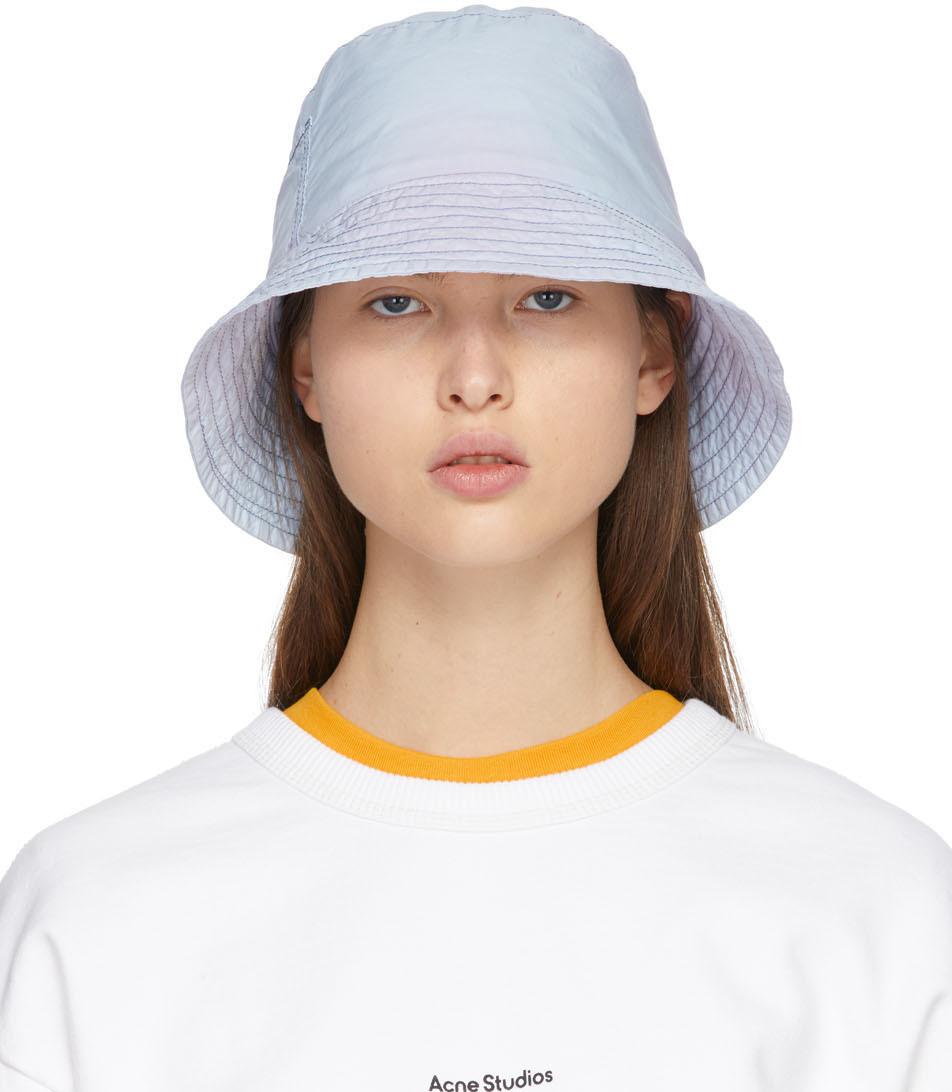 Acne Studios Blue Purple Tie Dye Bucket Hat 211129F015020