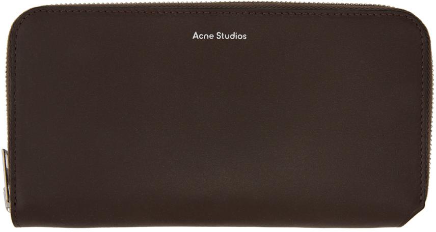 Acne Studios Brown Continental Wallet 211129F040108