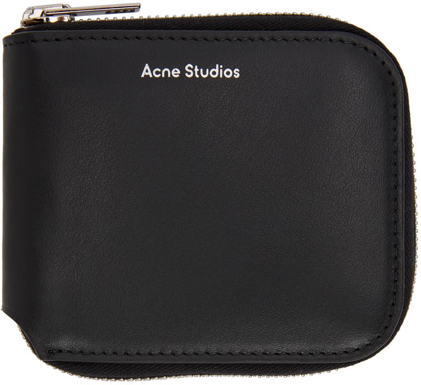 Acne Studios Black Compact Zip Wallet 211129F040111