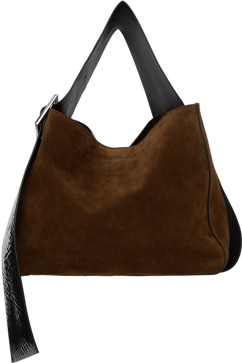 Acne Studios Brown Suede Bucket Bag 211129F048006