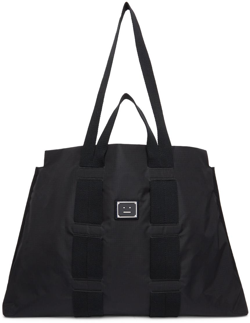 Acne Studios Black Ripstop Arvid Tote Bag 211129F049003