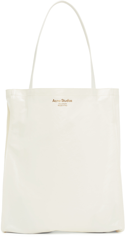 Acne Studios ホワイト Oilcloth トート