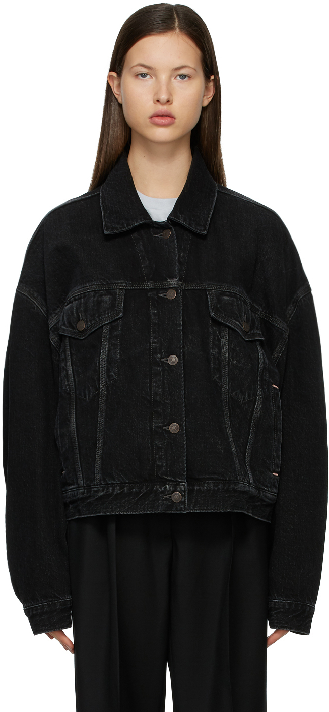 Acne Studios Black Denim Cropped Jacket 211129F060154