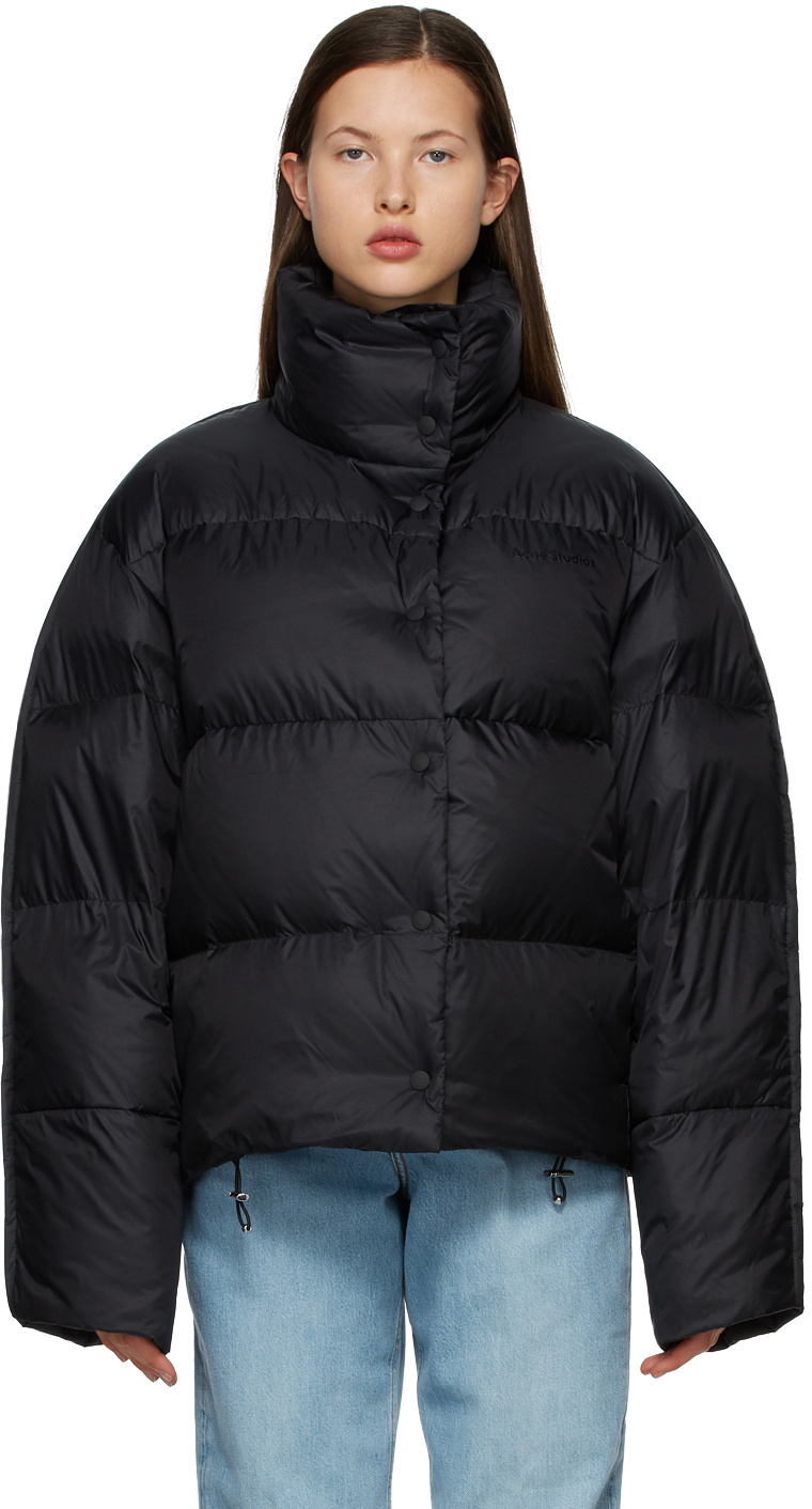 Acne Studios Black Down Quilted Jacket 211129F061148
