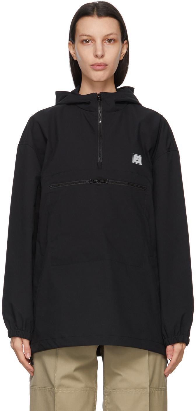 Acne Studios Black Hooded Anorak Jacket 211129F063031