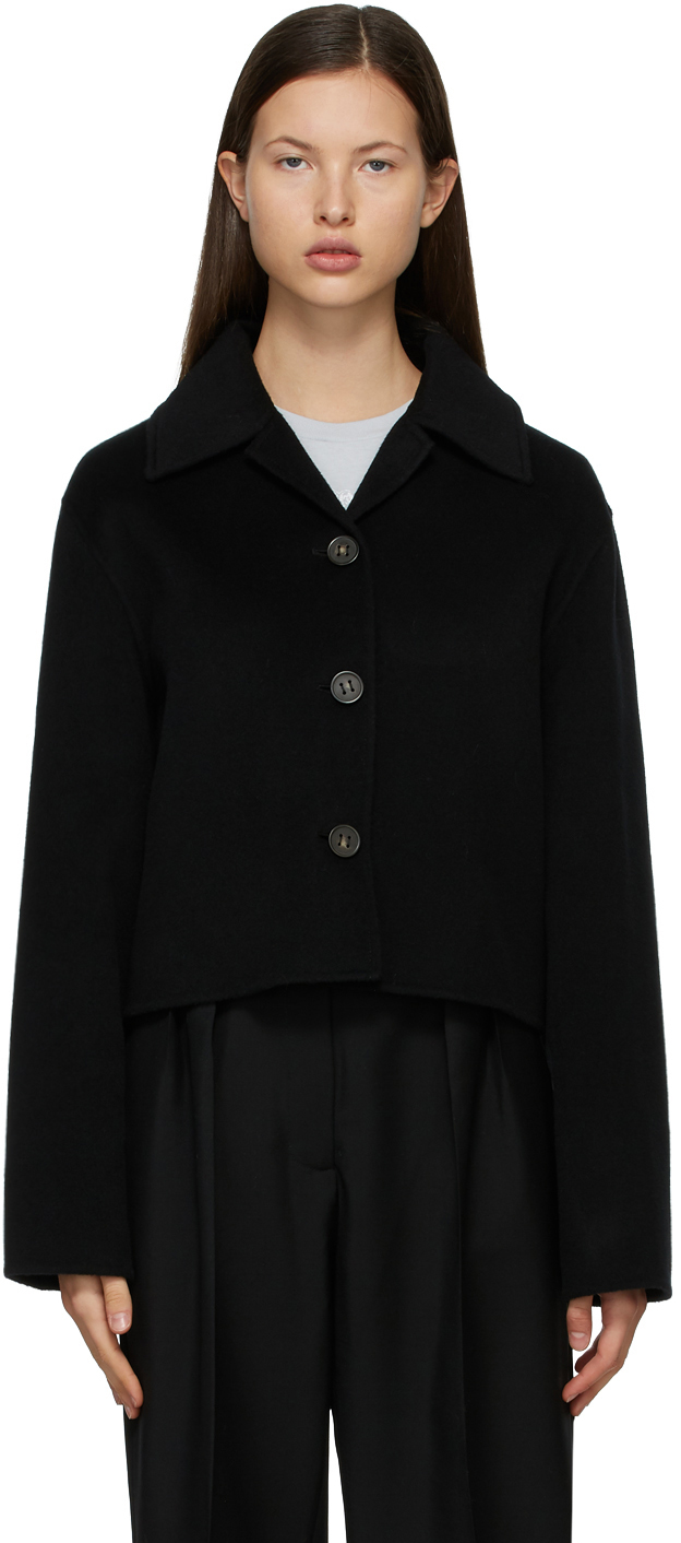 Acne Studios Black Wool Cropped Jacket 211129F063038