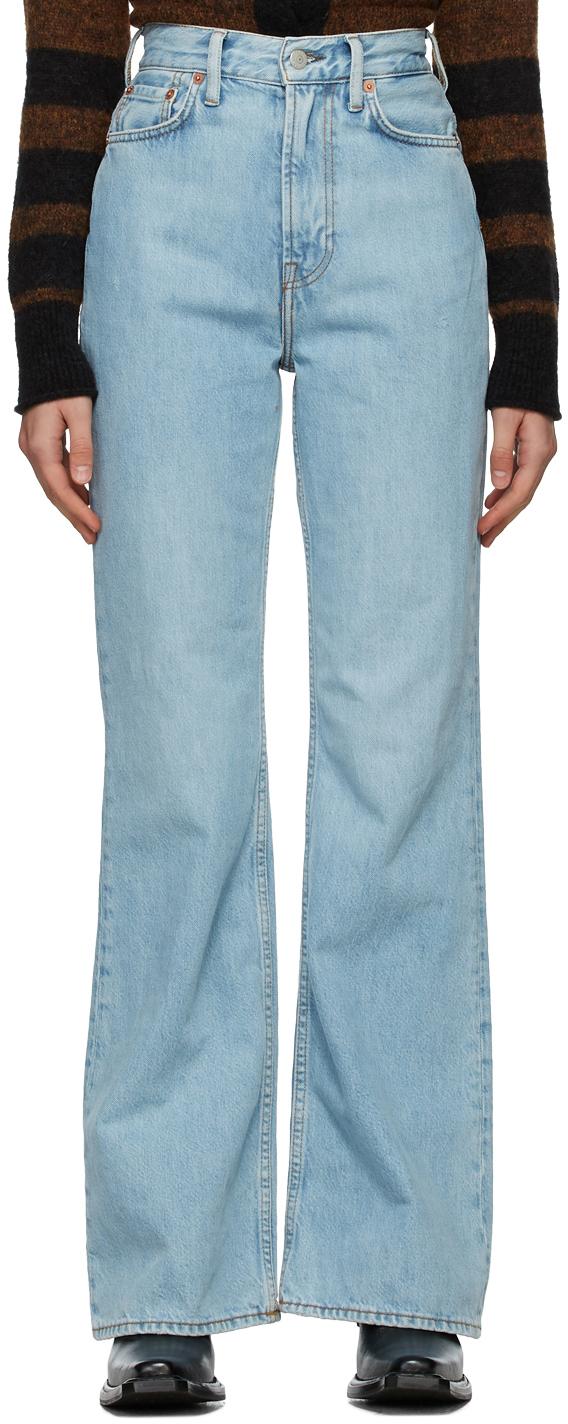 Acne Studios Blue Bootcut Fit Jeans 211129F069145