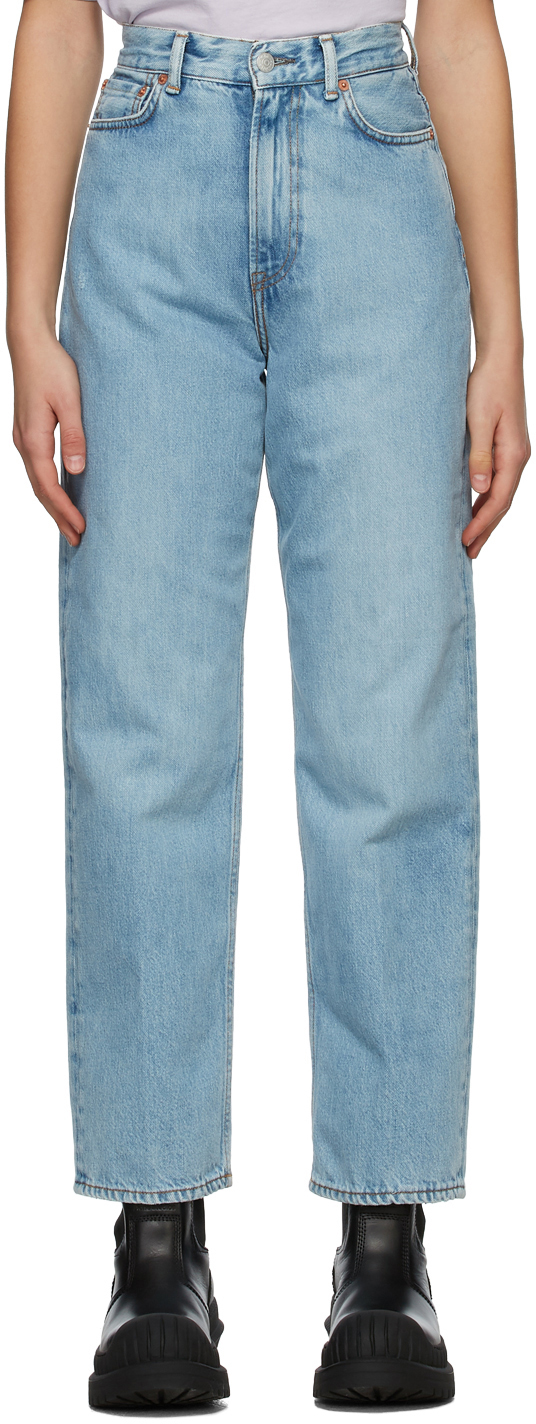 Acne Studios Blue Relaxed Fit Jeans 211129F069148