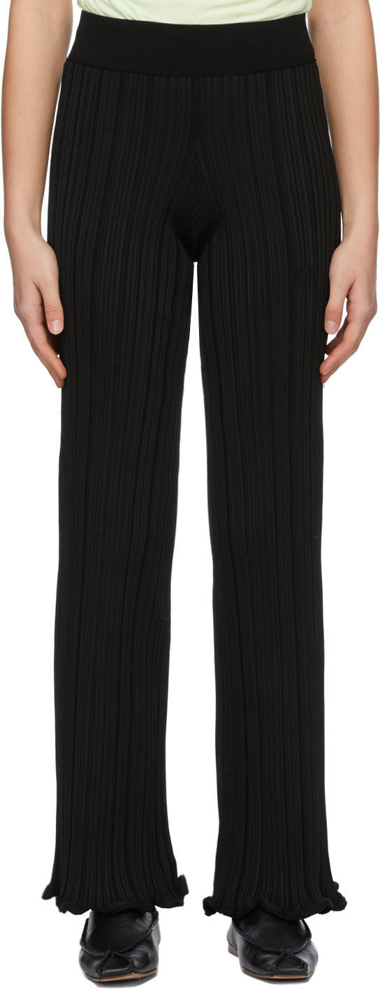 Acne Studios Black Ribbed Trousers 211129F087080