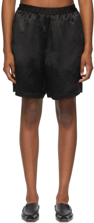 Acne Studios Black Satin Shorts 211129F088079