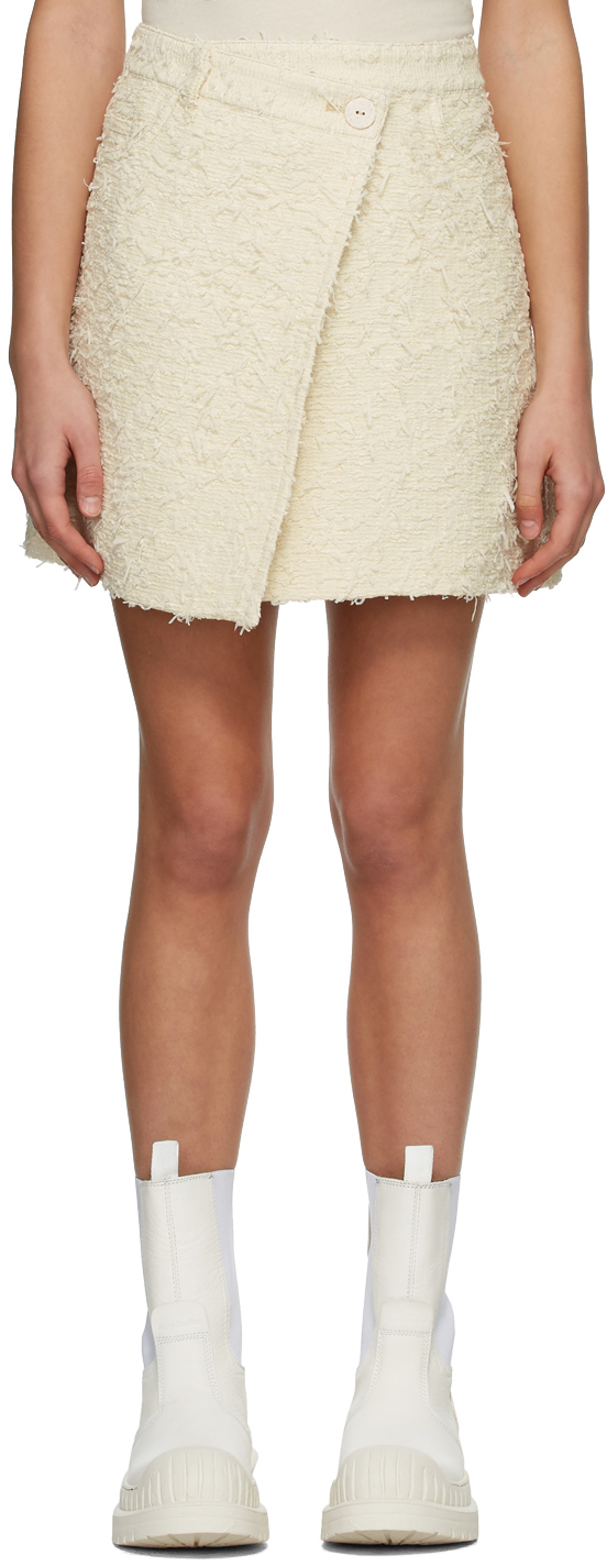 Acne Studios Beige Asymmetric Skirt 211129F090225