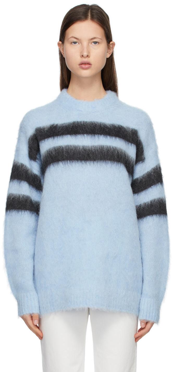 Acne Studios Blue Black Alpaca Striped Sweater 211129F096043