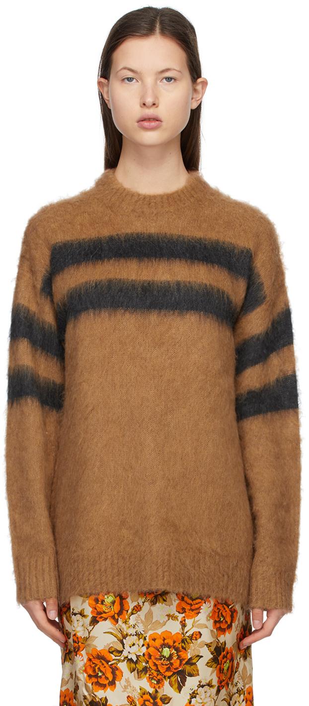 Acne Studios Brown Black Alpaca Striped Sweater 211129F096044