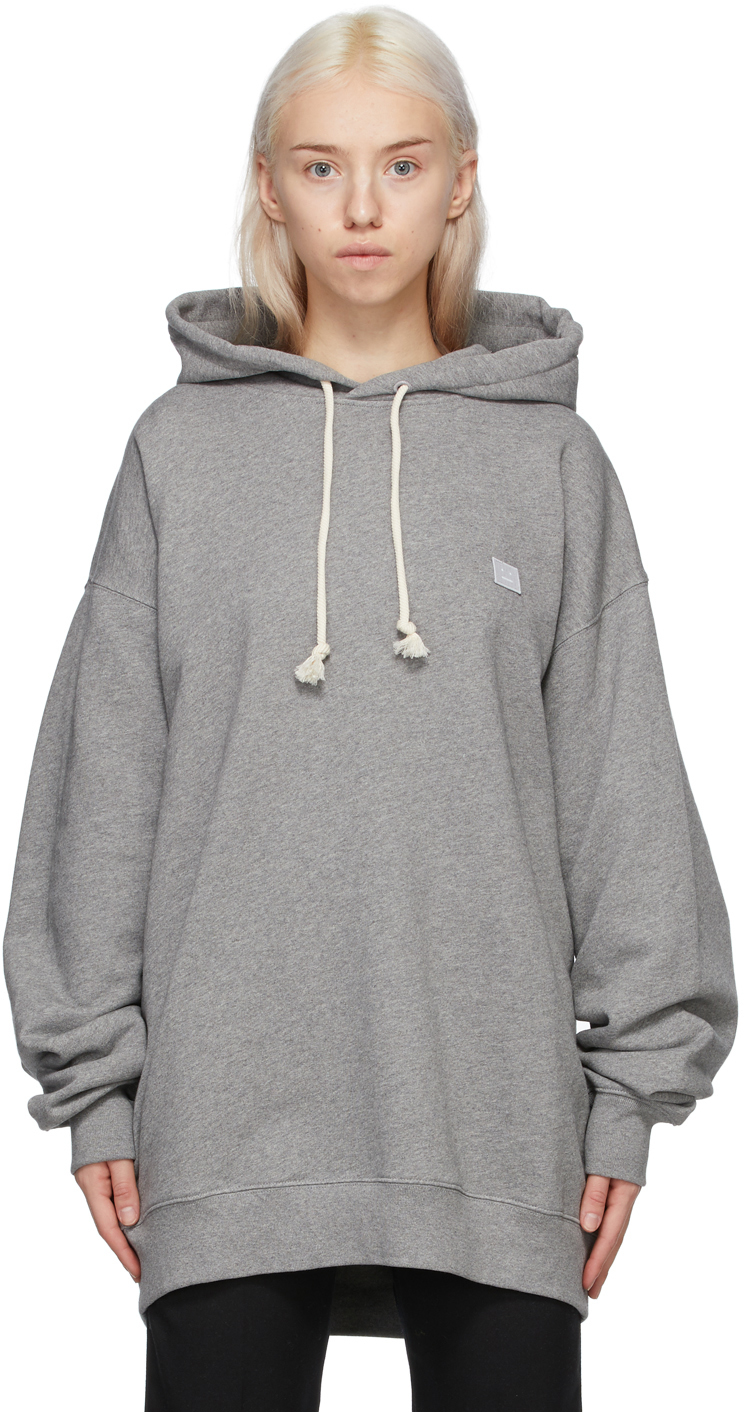 Acne Studios Grey Oversized Patch Hoodie 211129F097045