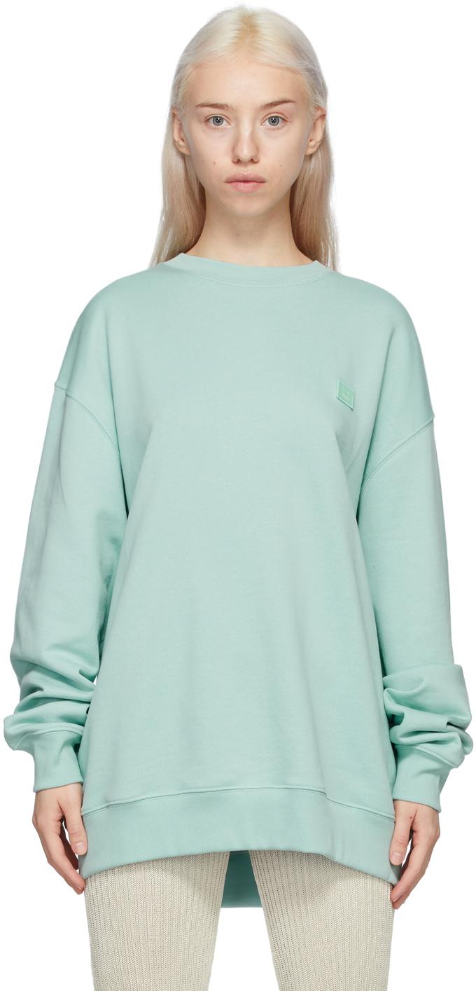 Acne Studios Green Crewneck Patch Sweatshirt 211129F098054