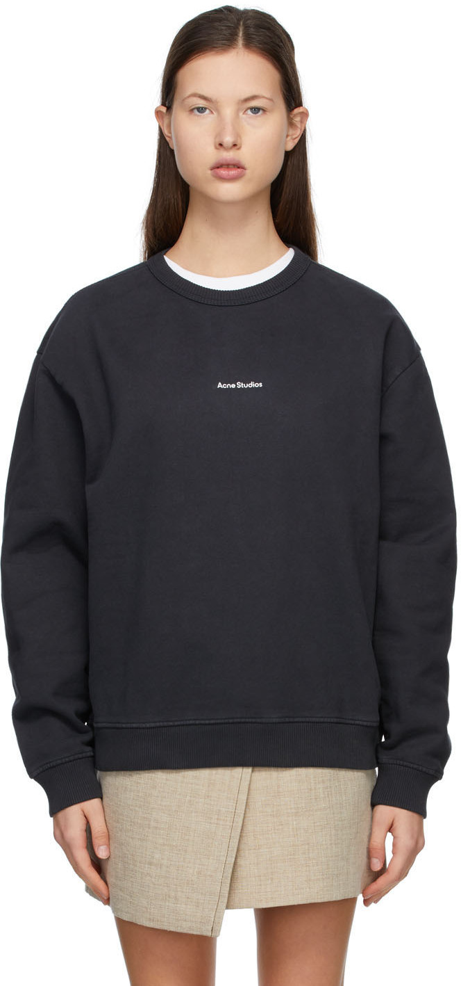 Acne Studios Black Fleece Logo Sweatshirt 211129F098060