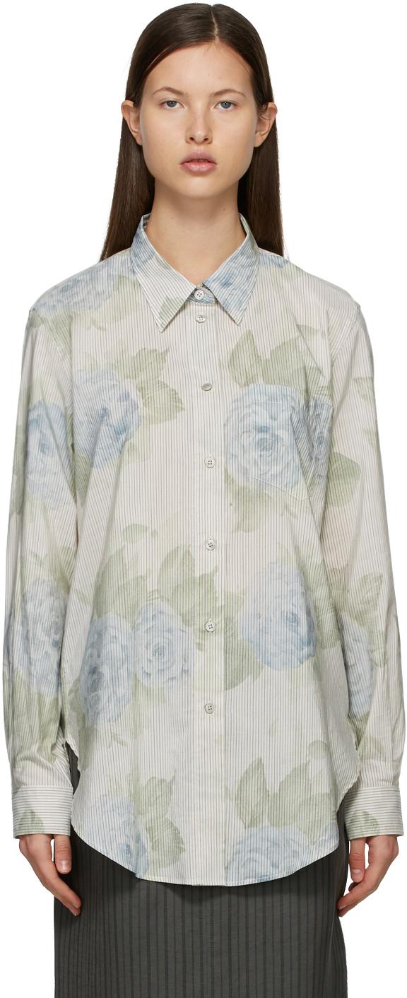 Acne Studios Blue Long Sleeve Shirt 211129F109037