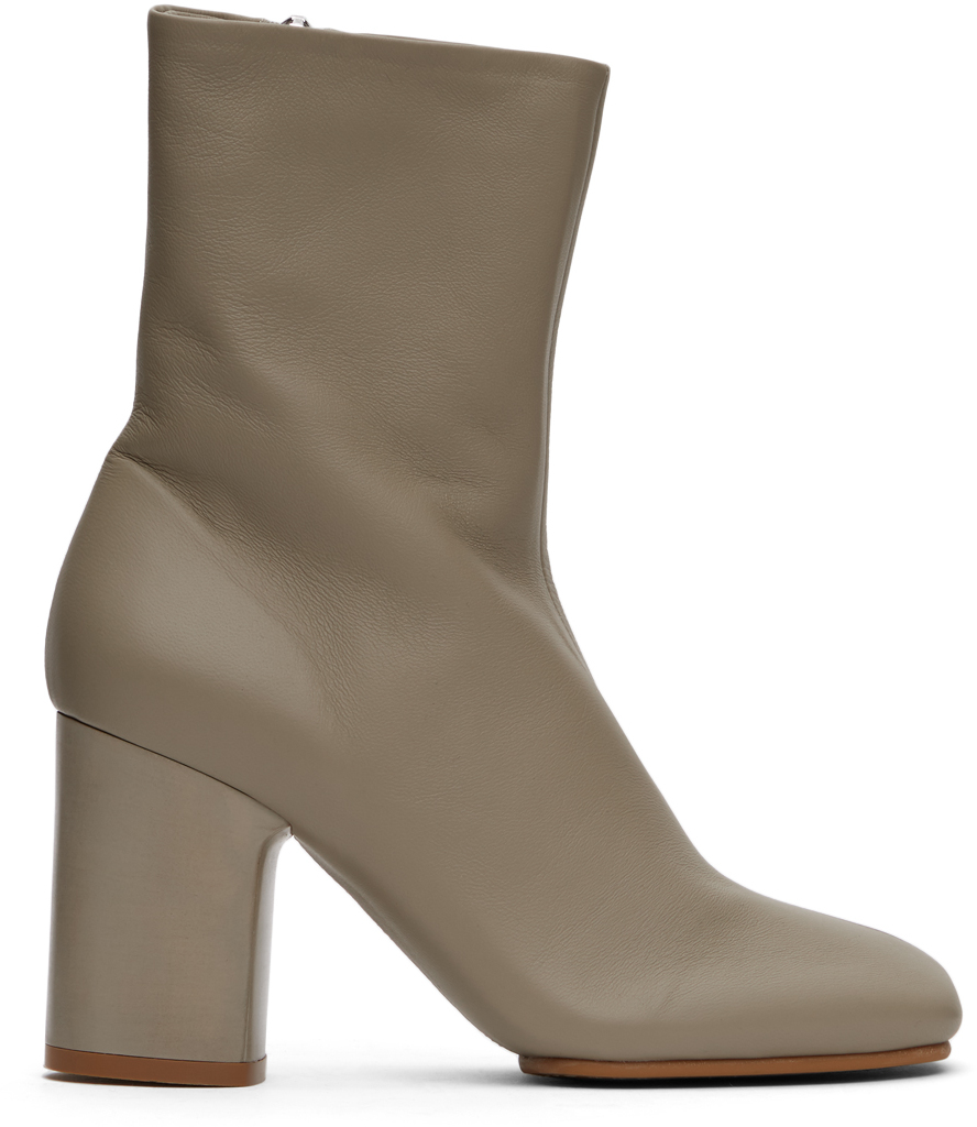 Acne Studios Beige Soft Leather Boots 211129F113082