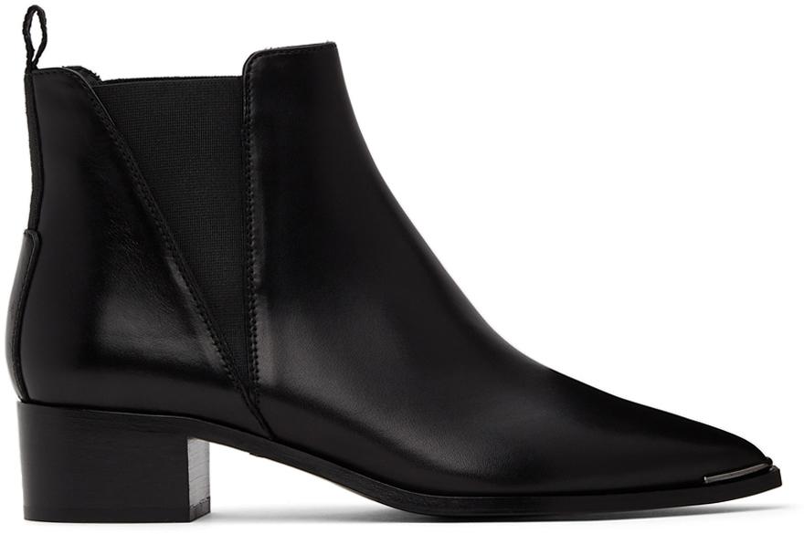 Acne Studios Black Jensen Ankle Boots 211129F113087