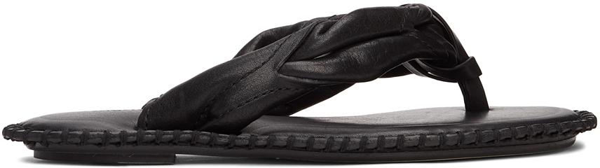 Acne Studios Black Blanket Stitch Sandals 211129F124001