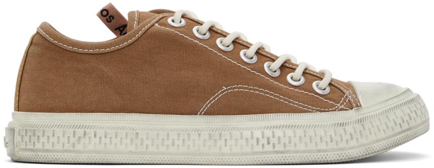 Acne Studios Brown Canvas Sneakers 211129F128008