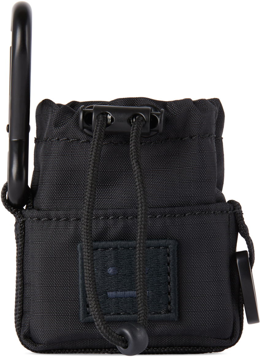 Acne Studios Black Drawstring AirPods Case 211129M000380