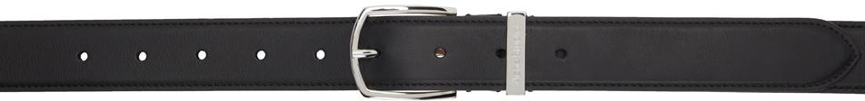 Acne Studios Black Leather Matte Belt 211129M131264