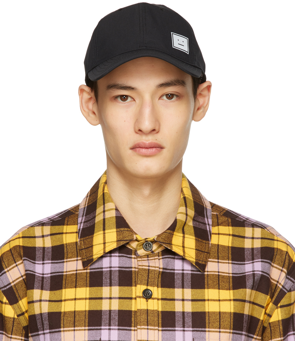Acne Studios Black Twill Baseball Cap 211129M139024