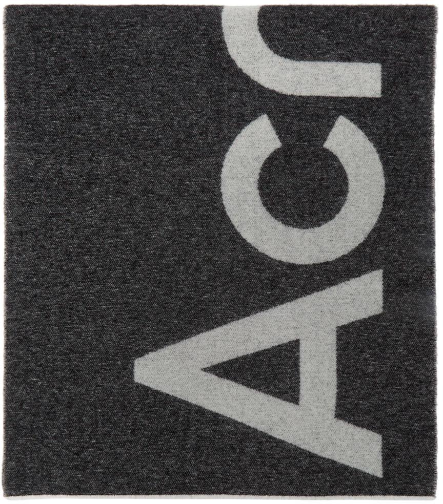 Acne Studios Black Logo Scarf 211129M150039