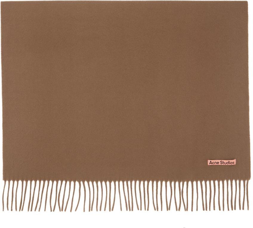Acne Studios Brown Wool Oversized Scarf 211129M150046