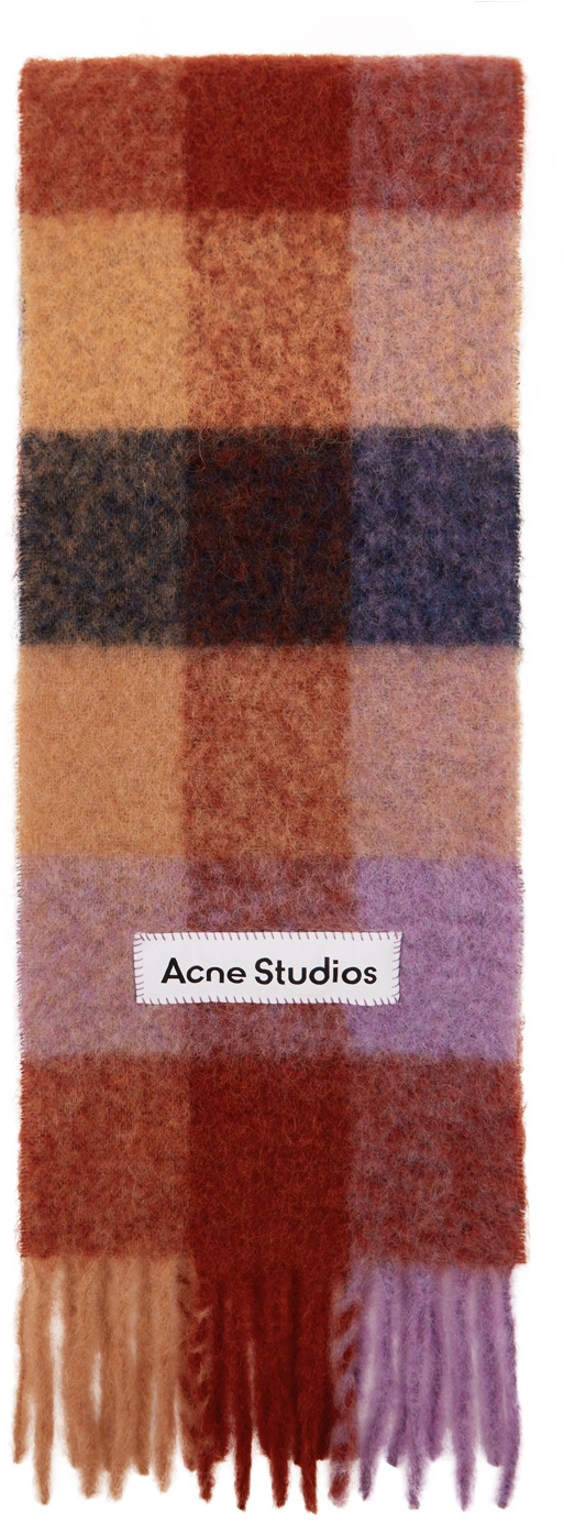 Acne Studios Multicolor Check Scarf 211129M150059