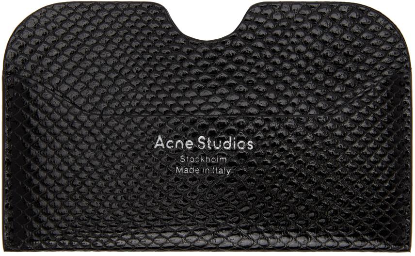 Acne Studios Black Snake Card Holder 211129M163044