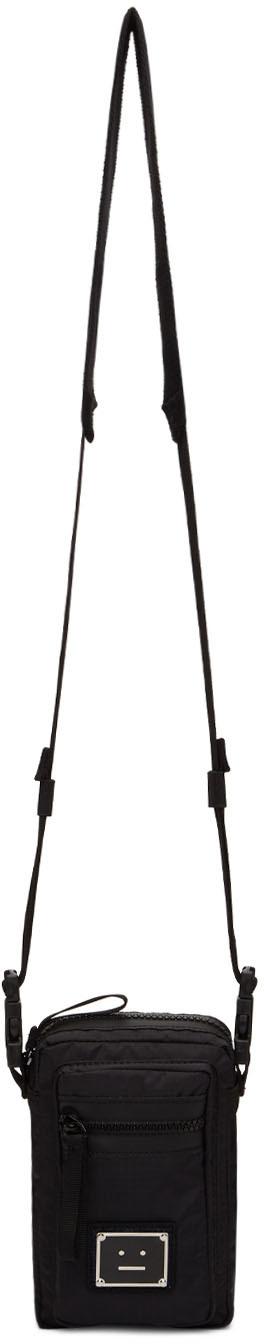 Acne Studios Black Ripstop Plaque Pouch 211129M171001