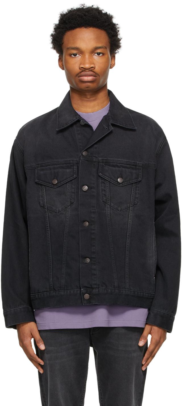 Acne Studios Black Denim Washed Jacket 211129M177109