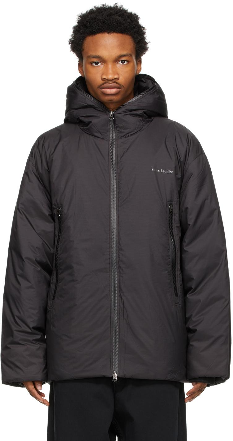 Acne Studios Black Down Hooded Jacket 211129M178101