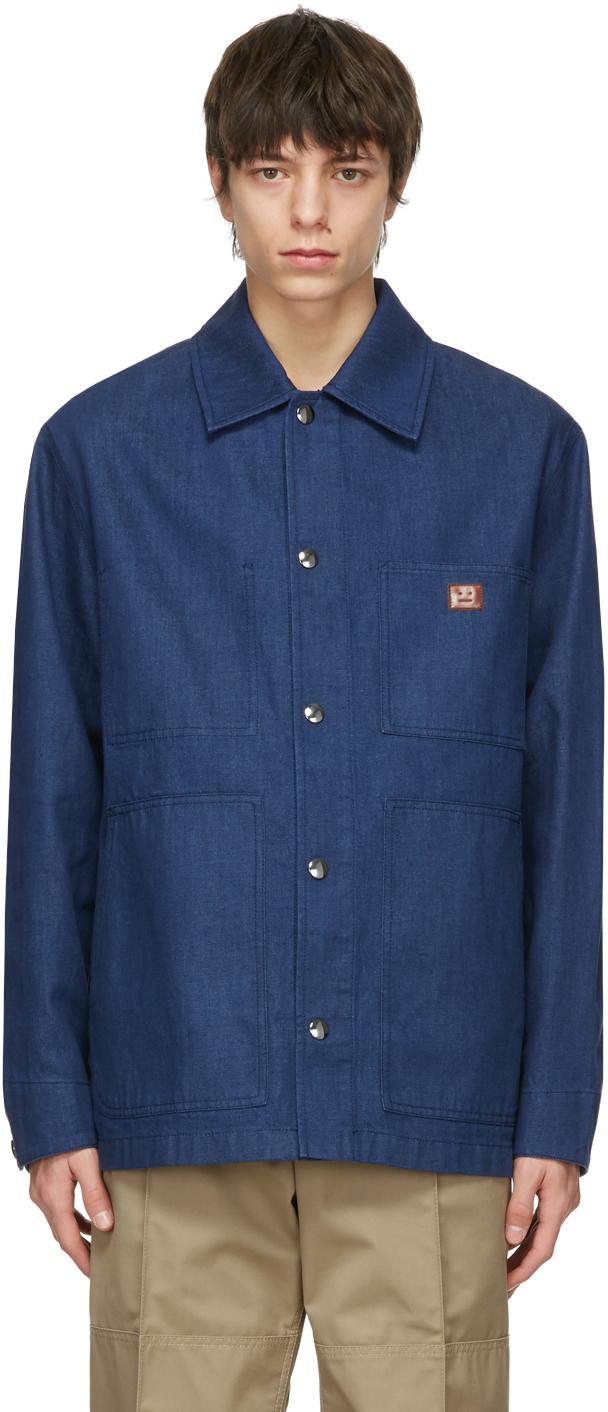 Acne Studios Indigo Denim Workwear Jacket 211129M180045