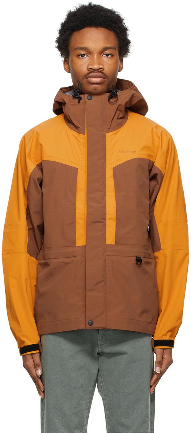 Acne Studios Brown Orange Color Block Jacket 211129M180050