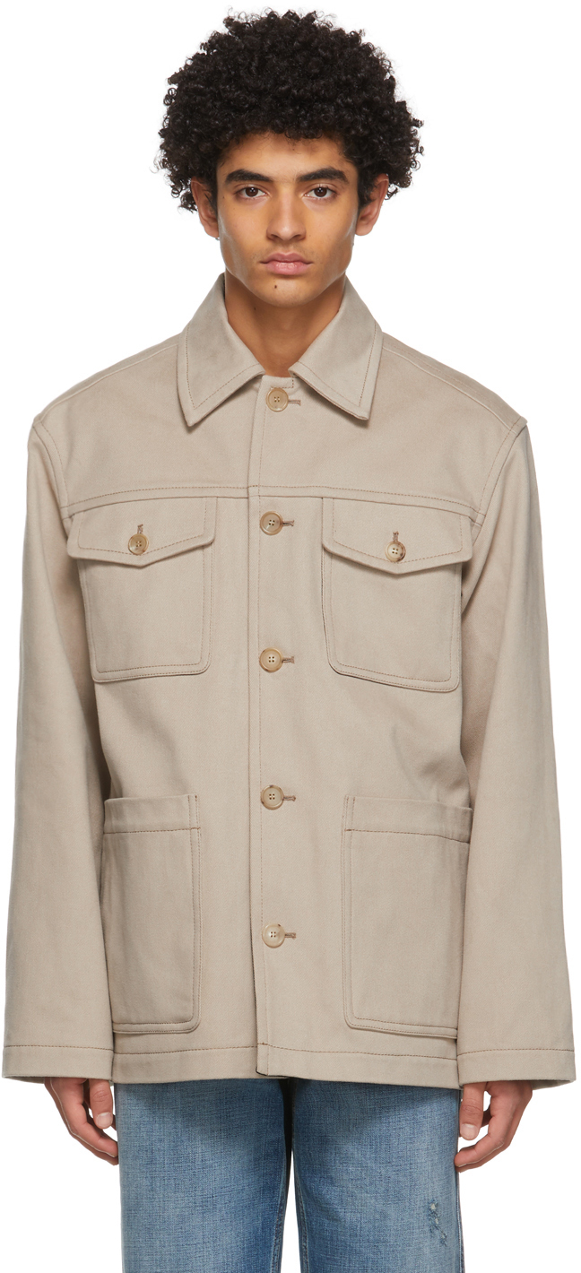 Acne Studios Beige Shirt Jacket 211129M180056