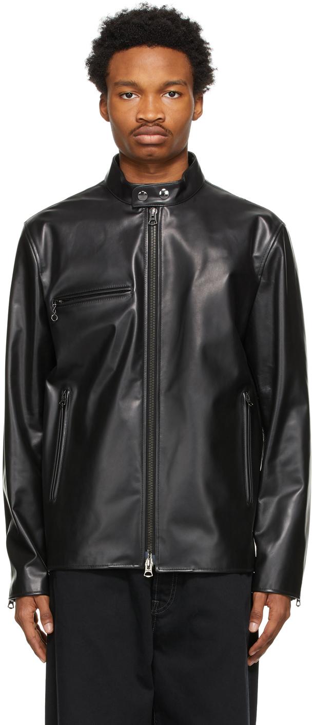Acne Studios Black Leather Jacket 211129M181149