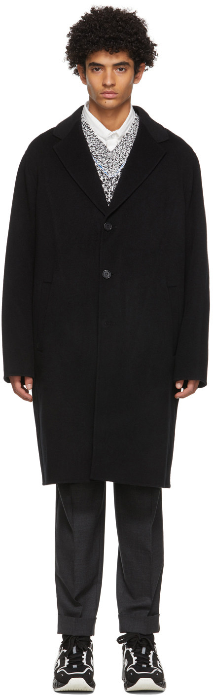 Acne Studios Black Wool Double Face Coat 211129M183098